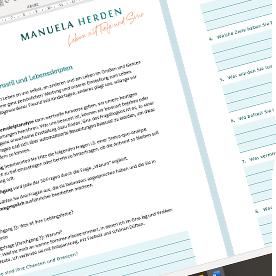 Fragebogen mit Fragen zu Lebensstil und Lebensskript